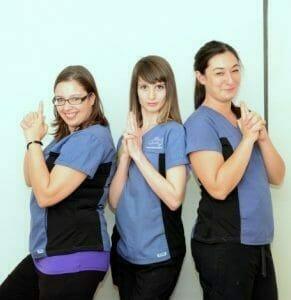 Annex animal hospital vet tech team photo